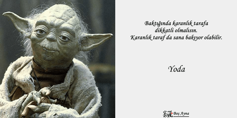 Jedi Master Yoda 05  Star Wars Boş Ayna Not Defteri