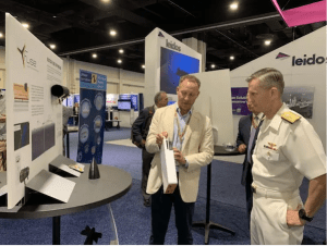 Fuse Integration Booth: Sumner Hunt Lee, CEO & President, Fuse Integration and Vice Admiral Dean Peters (COMNAVAIRSYSCOM)