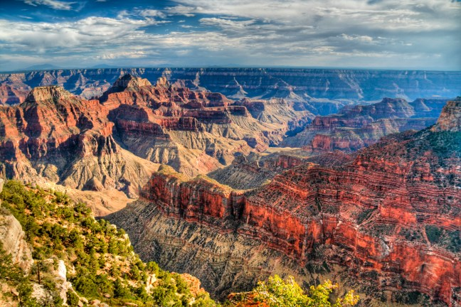 North Rim of the Grand Canyon, beautiful colors