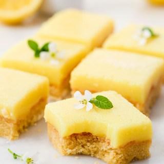 easy vegan lemon bars