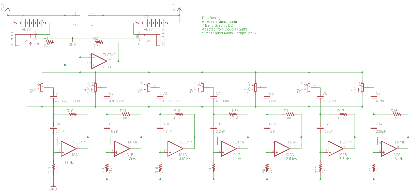 hight resolution of graphic eq schematic parts layout pc board