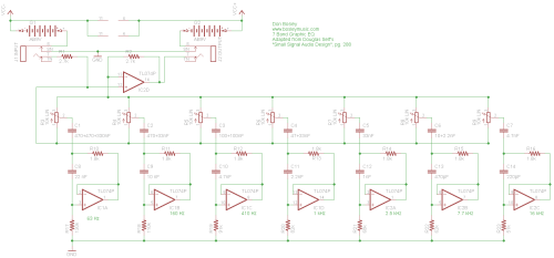 small resolution of graphic eq schematic parts layout pc board