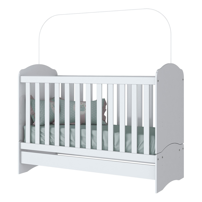 Cuna Colecho Minicama para Bebé o Niño Bala de Menta Blanco