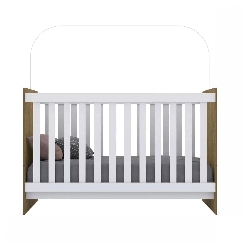 Cuna Minicama para Bebé o Niño Laberinto color Rústico/Blanco