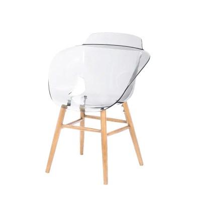 Silla transparente moderna para comedor arkan 1