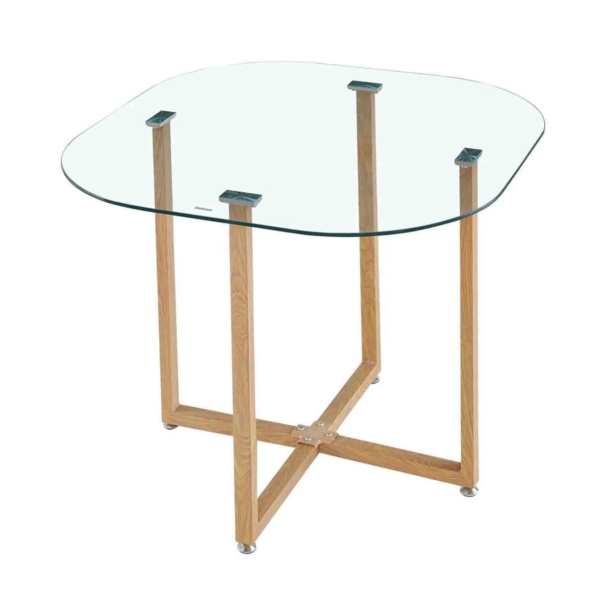 comedor marruecos de cristal templado con 4 sillas 2