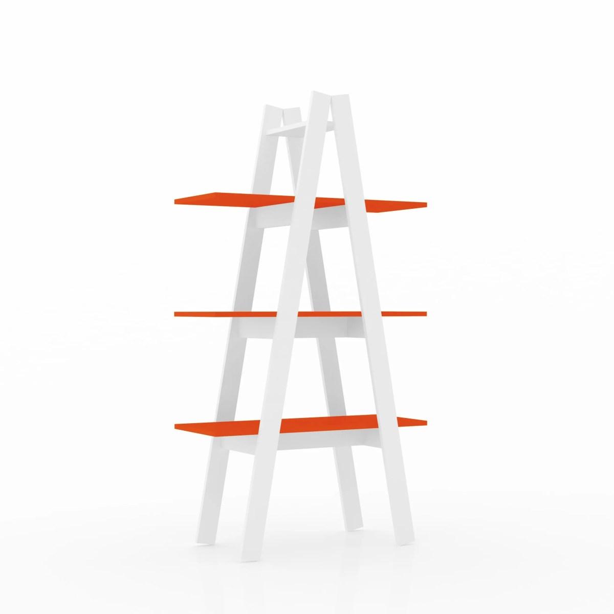 librero escalera antuan 3 niveles naranja 1