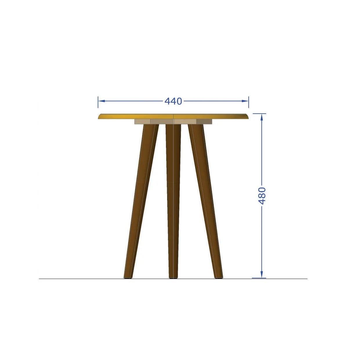 mesa lateral brillante off white 3