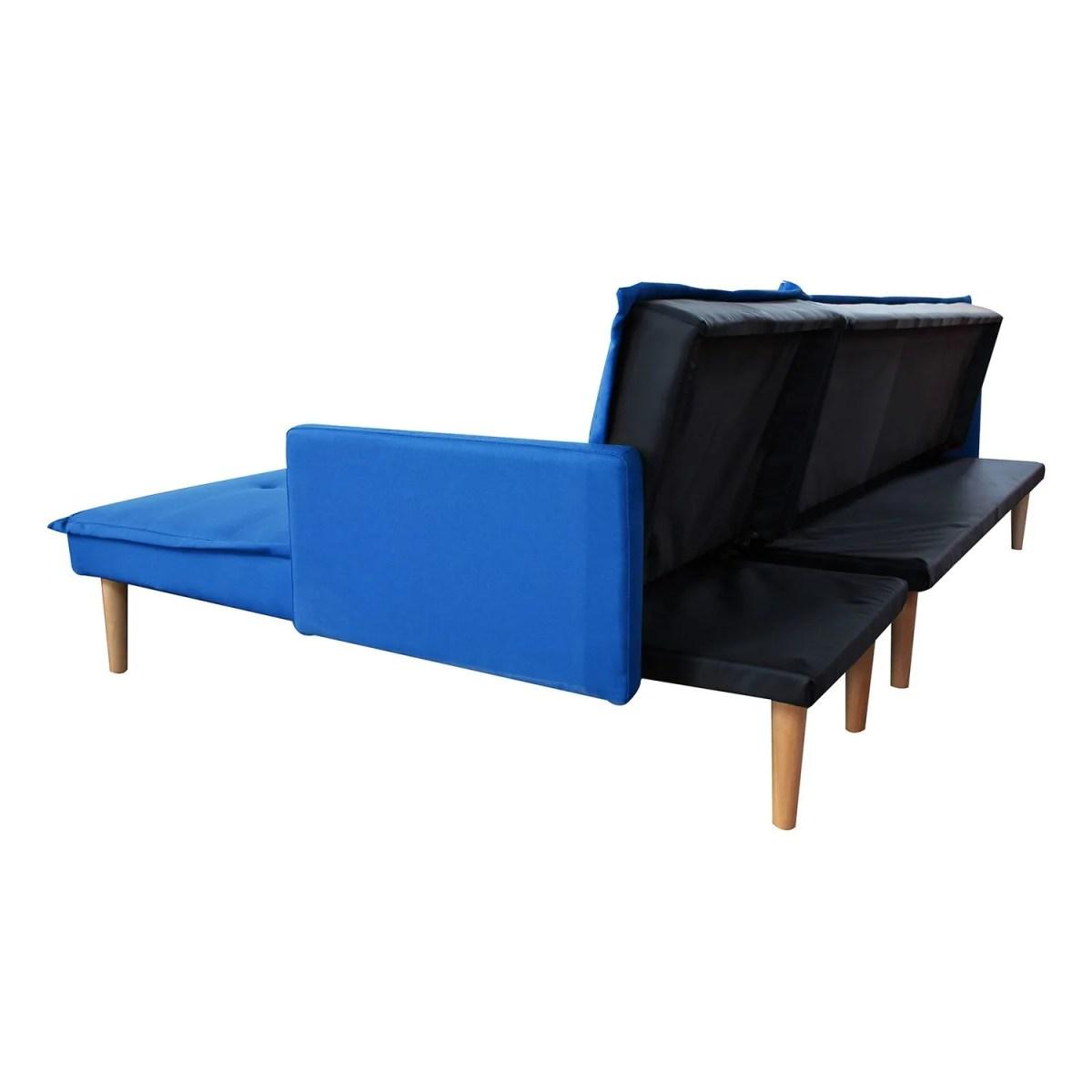 sala esquinada sofá cama independencia azul 8