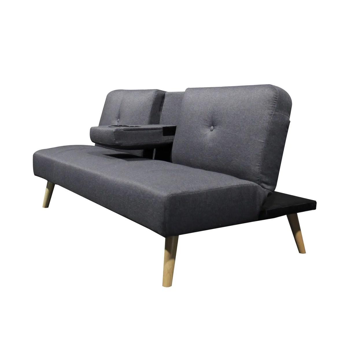 sofá cama hobbs 165 con portavasos 4