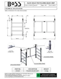Tower Component Data Sheets | BoSS Access Towers