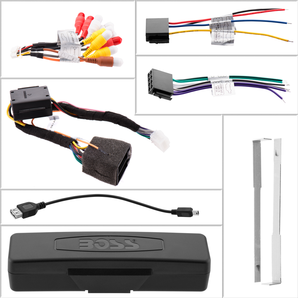hight resolution of bv9986bi boss audio systems autos post universal car stereo wiring harness universal car stereo wiring harness