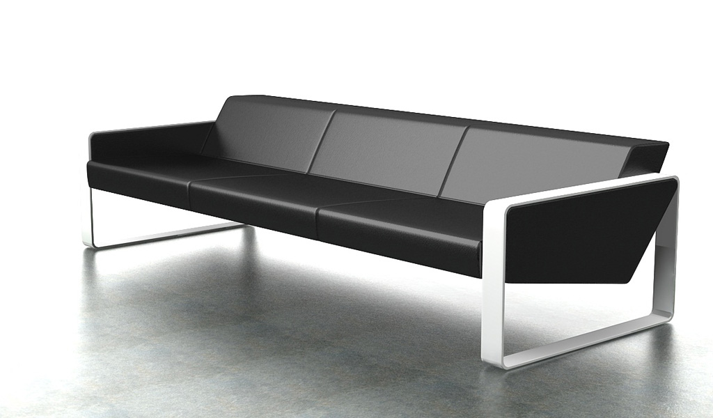 Contemporary Office Sofa In Leather
