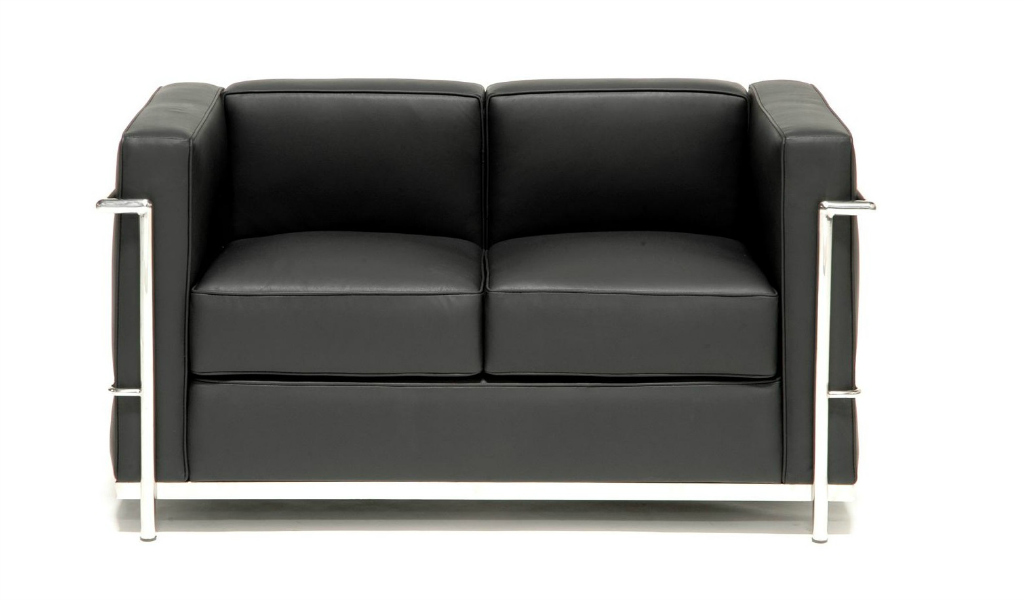 Core Leather Office Sofa With Steel Frame 2 Seater: Boss's