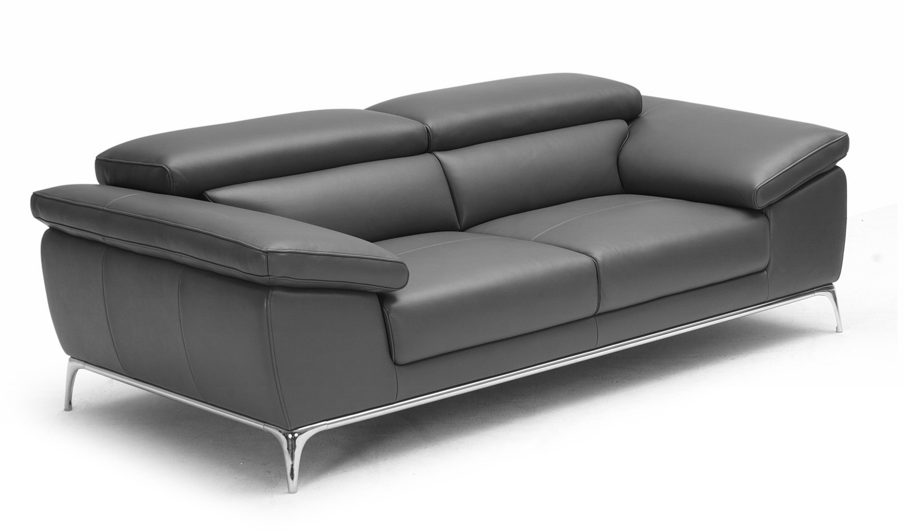 Ebony Plush Two Seater Office Sofa In Leather: Boss's Cabin
