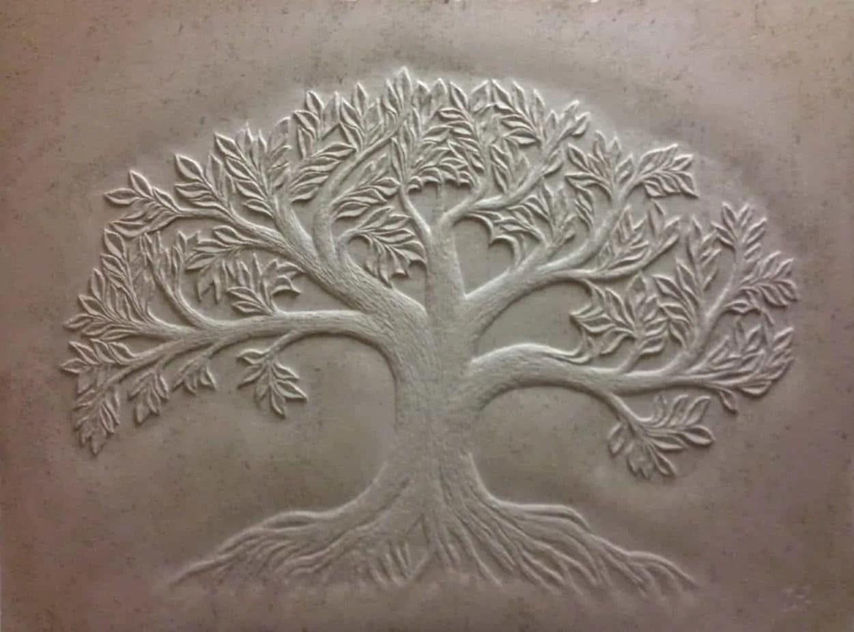 custom carved tile touchstone