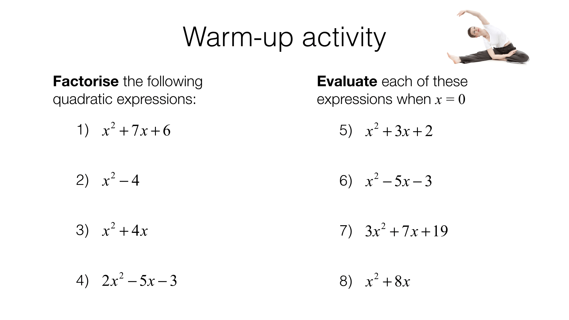 A11c Sketching Quadratics Bossmaths