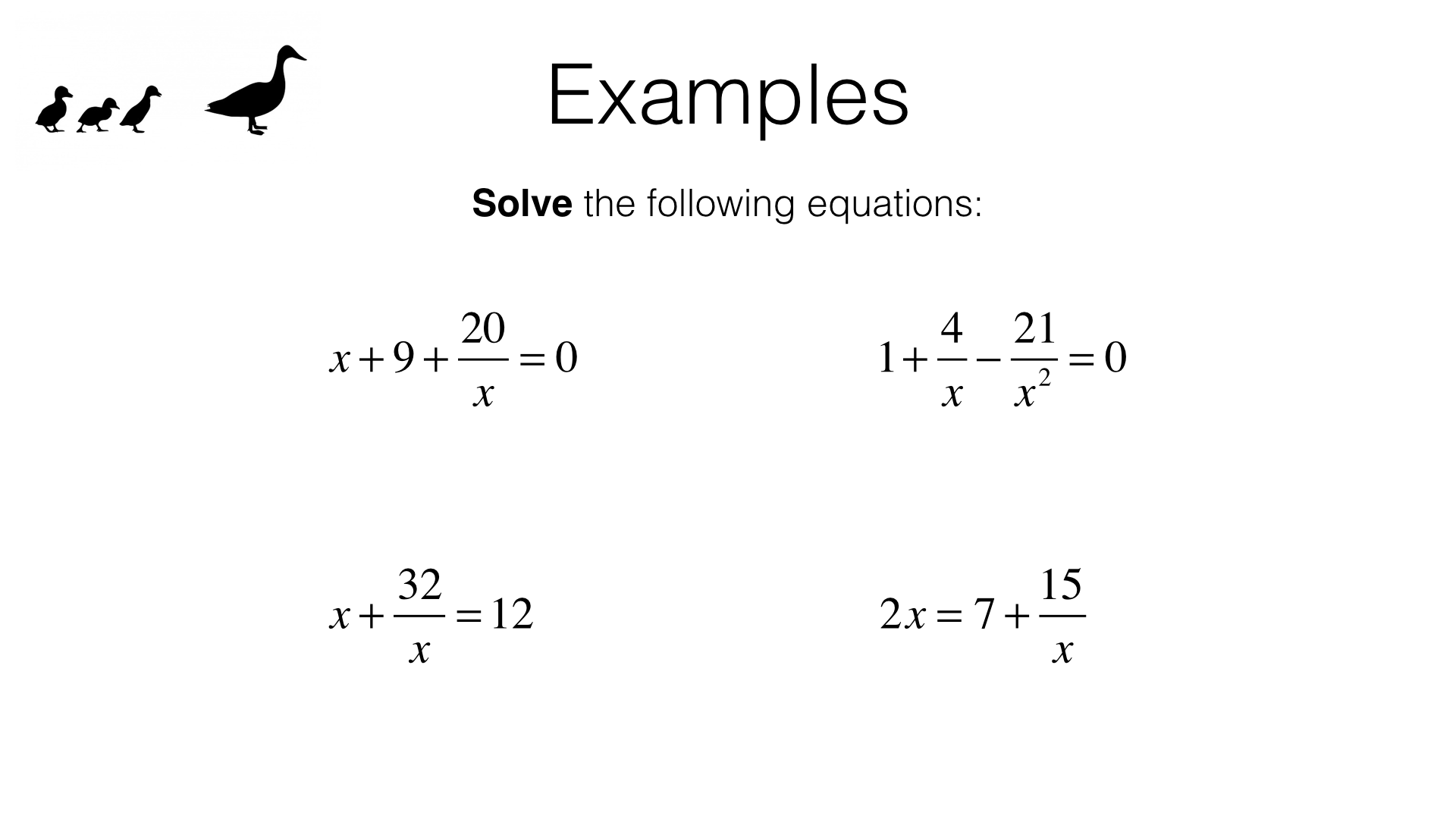 Hard Equations That Equal 15