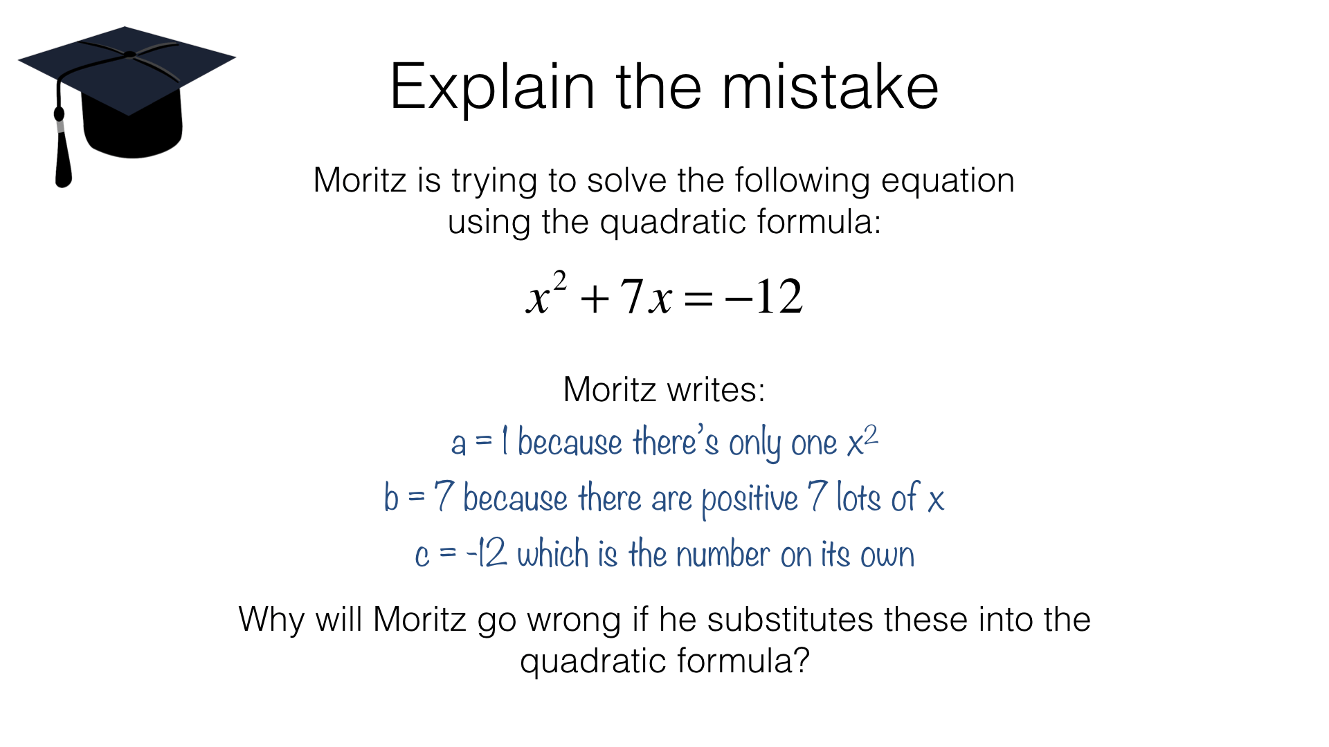 A18c Solving Quadratic Equations Using The Quadratic Formula Bossmaths