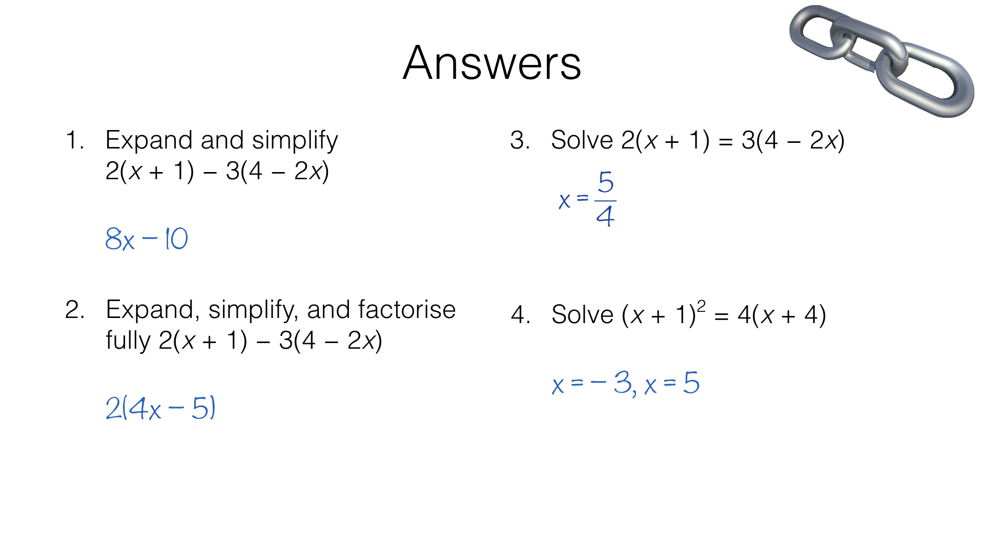 Expanding Simplifying Factorising And Solving Equations