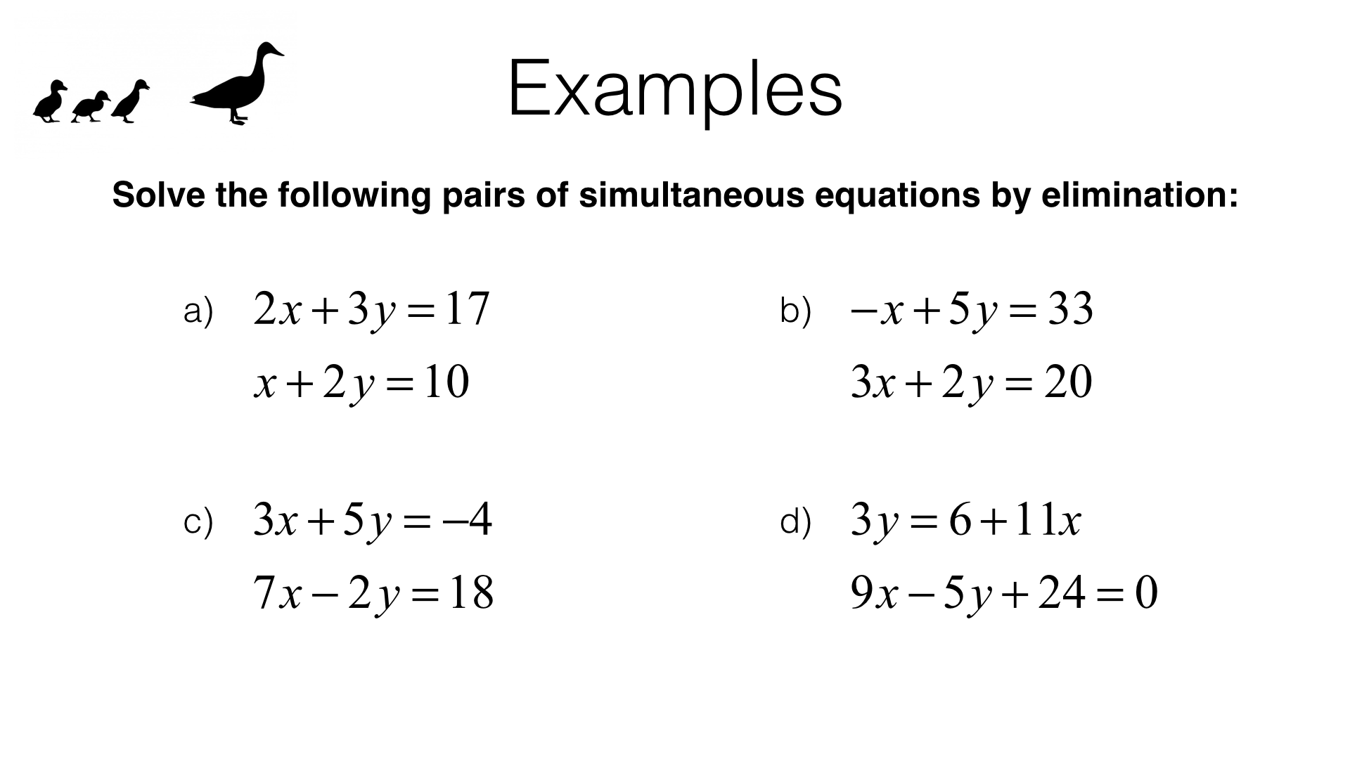 Simultaneous Equations Quadratic Exam Questions