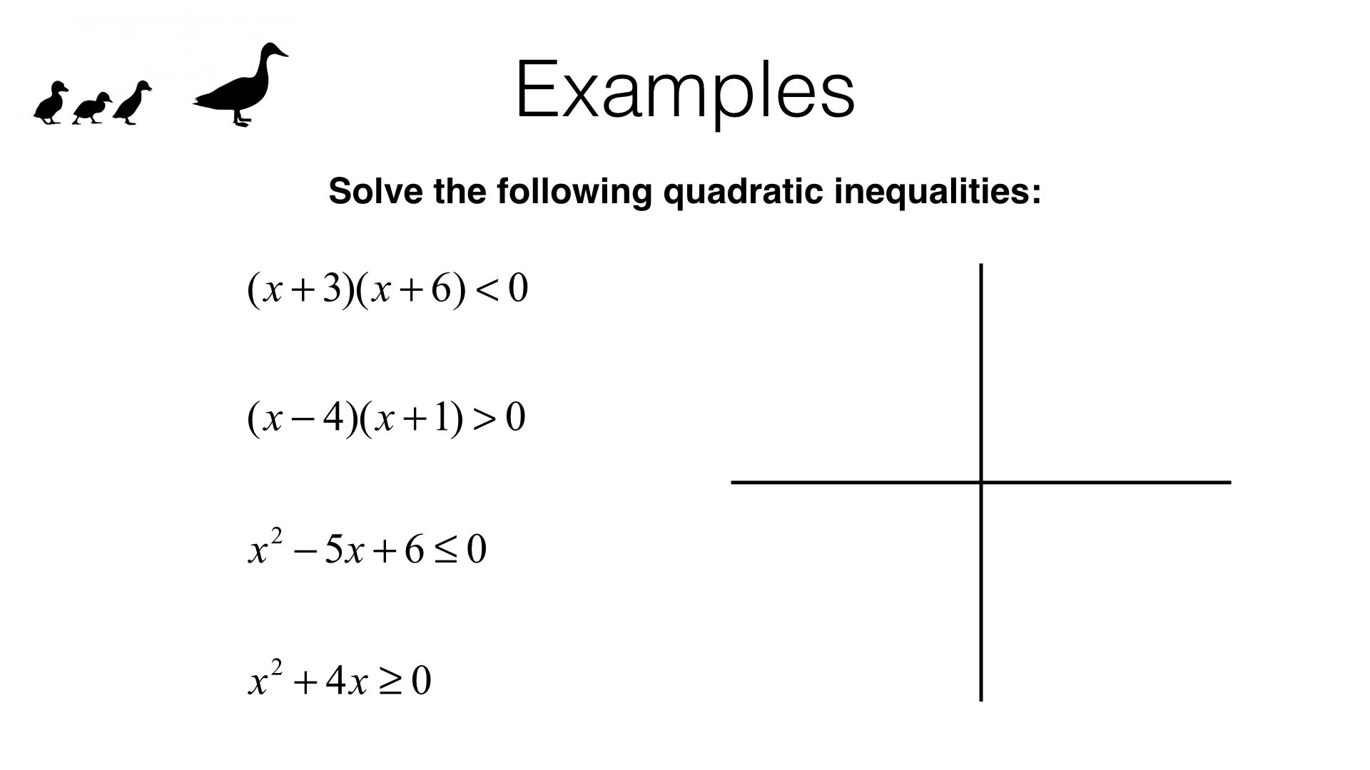 A22c Solving Quadratic Inequalities In One Variable Bossmaths