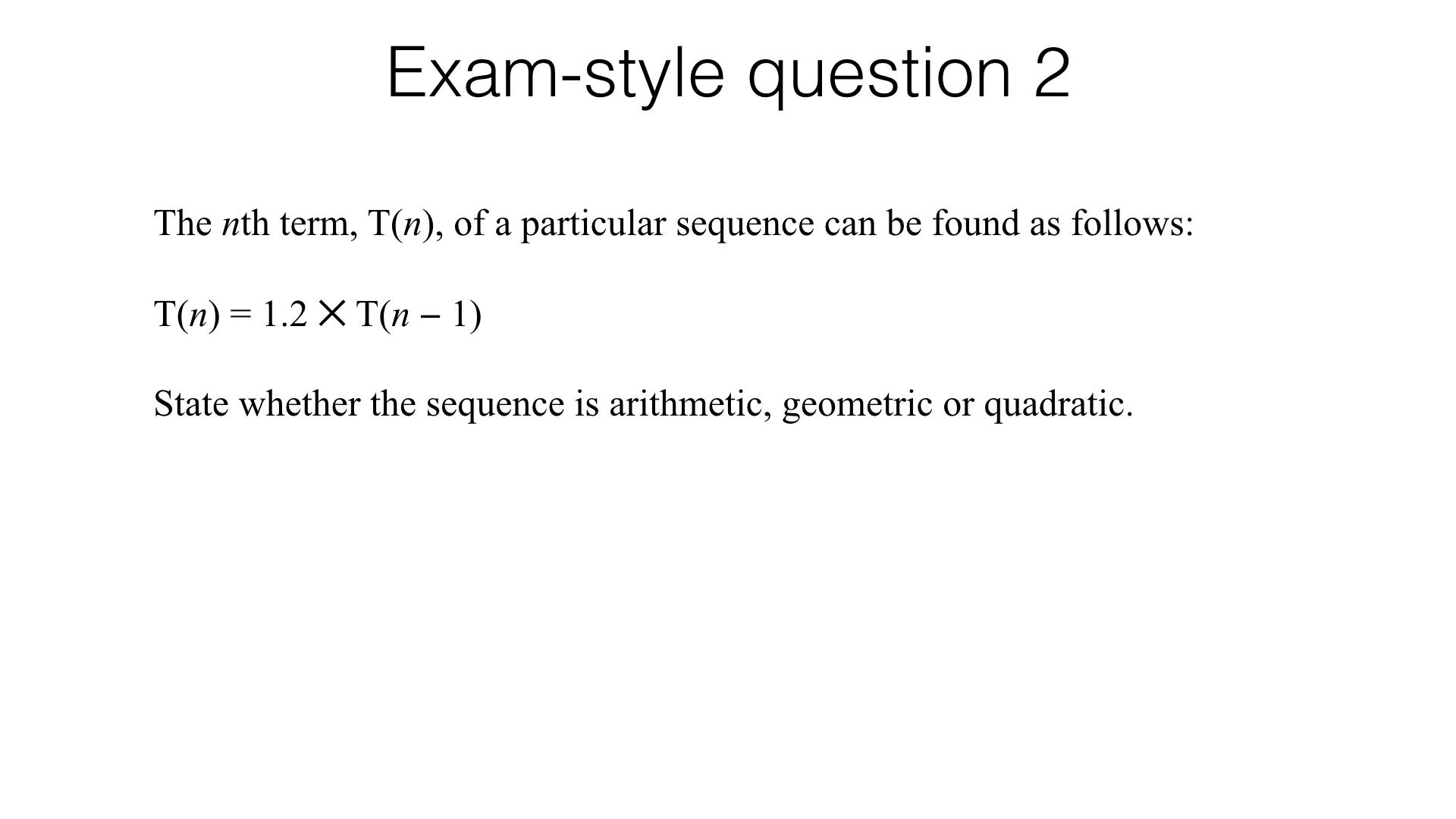 A24b Recognising Arithmetic Geometric And Quadratic