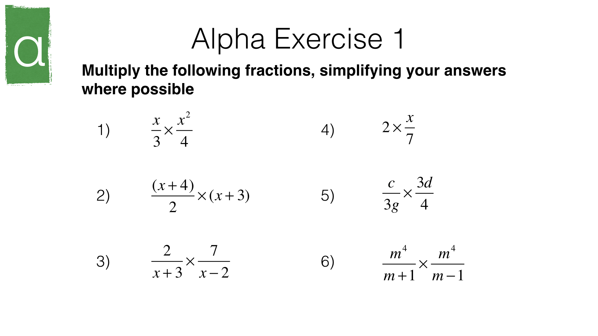 A4f Simplifying Multiplying And Dividing Algebraic