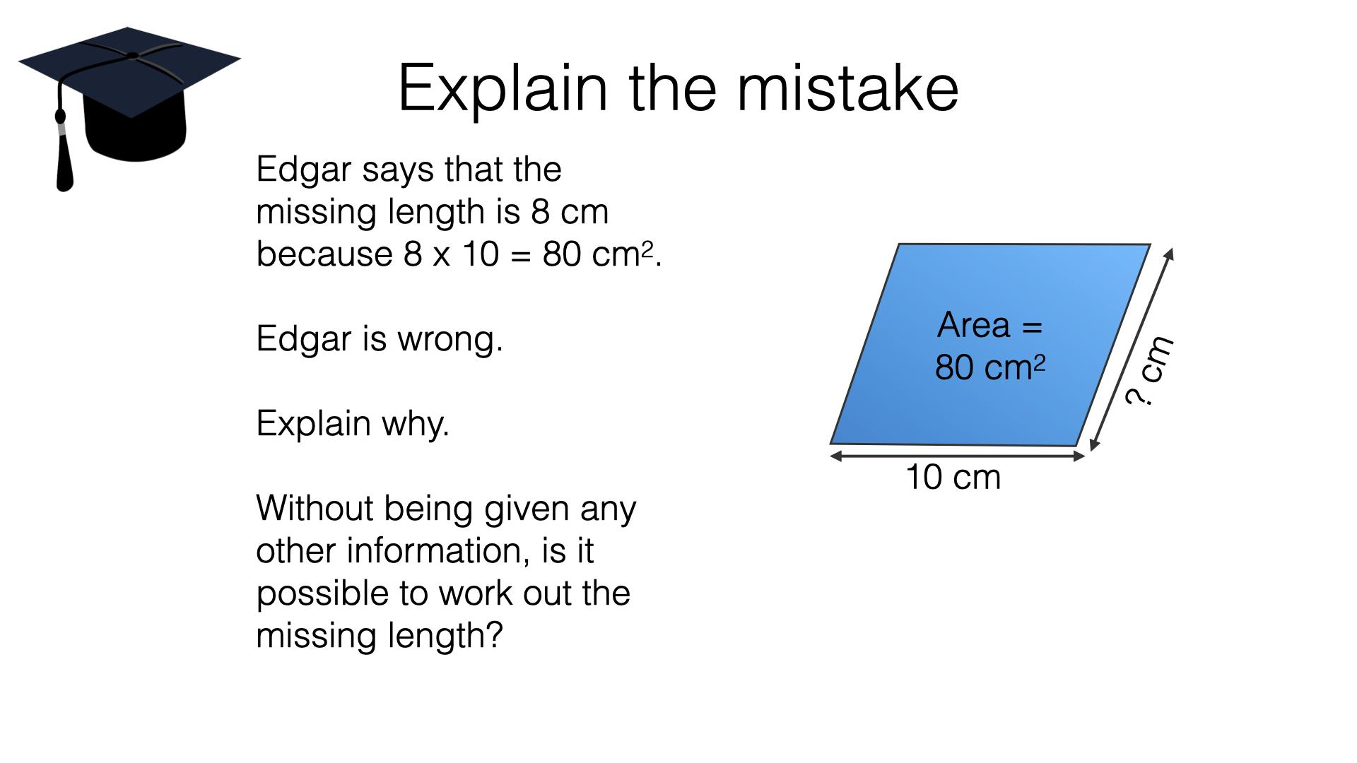 G16b Area Of A Parallelogram Bossmaths