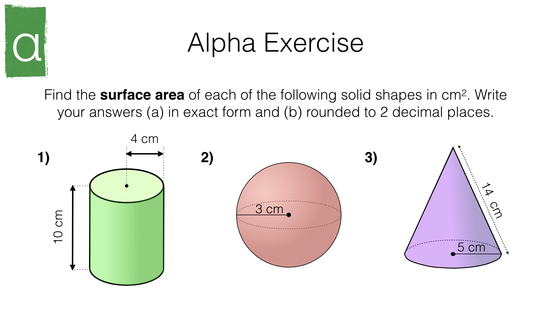 G17h Surface Area Of Cylinders Spheres And Cones