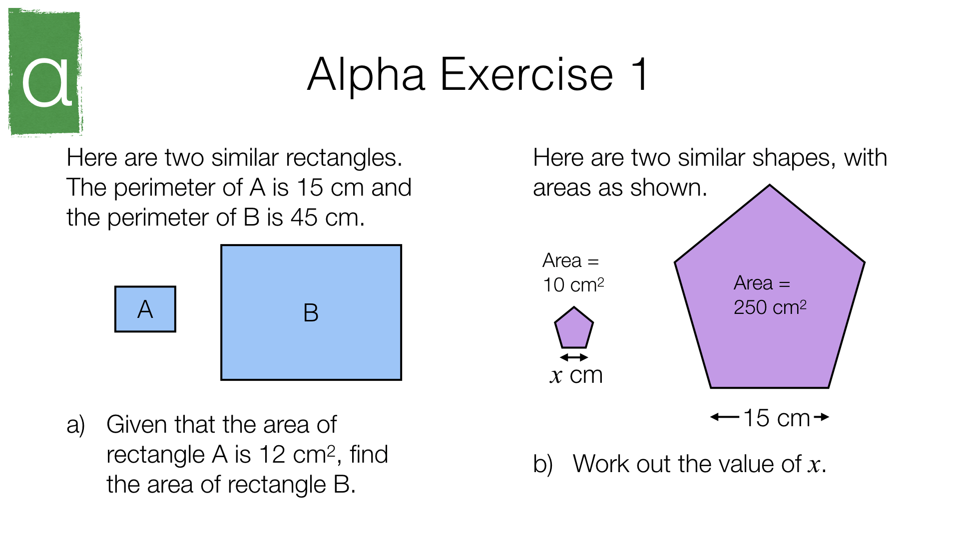 G19a Lengths Areas And Volumes In Similar Shapes
