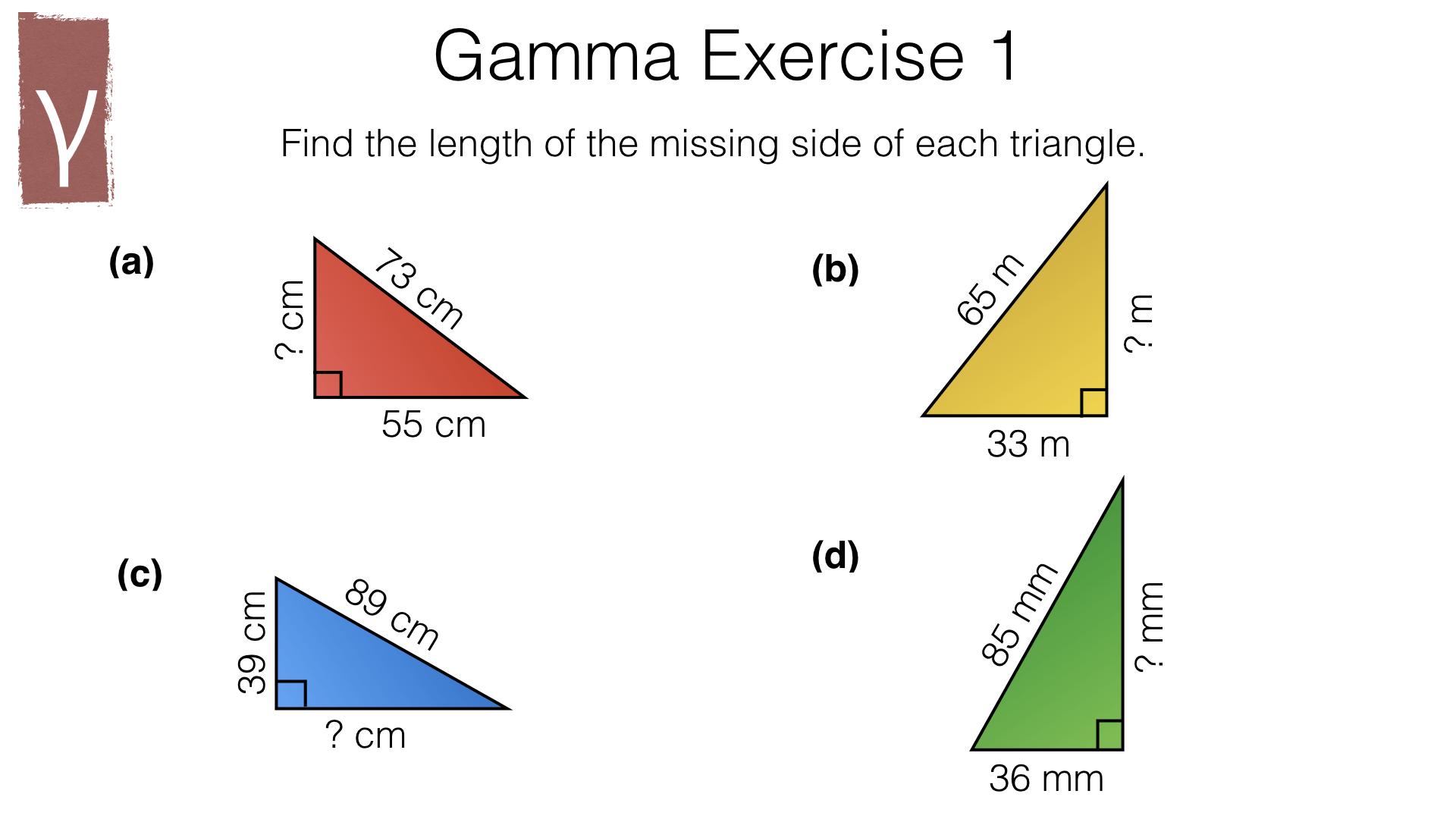G20a Pythagoras Theorem Bossmaths