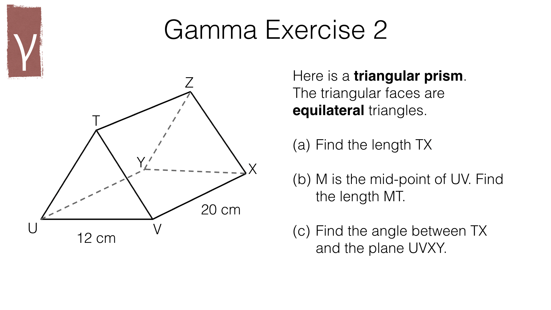 G20d Trigonometry With Right Angled Triangles In 3d