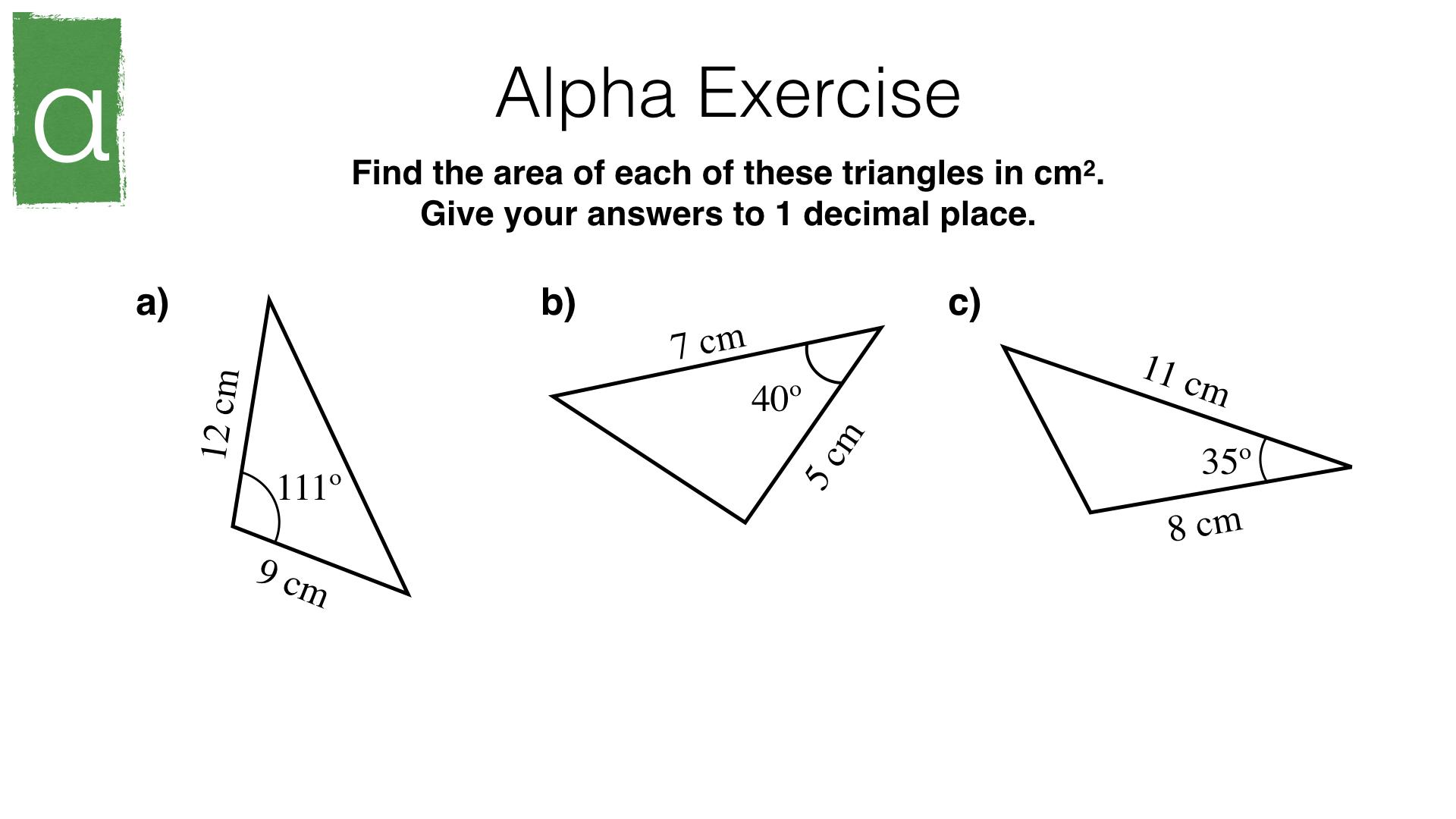 G23a Area Of A Triangle Using Sine Bossmaths
