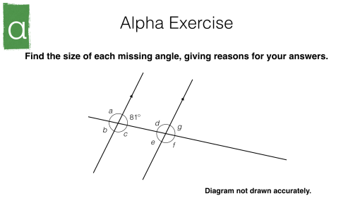 small resolution of alternate and corresponding angles on parallel lines