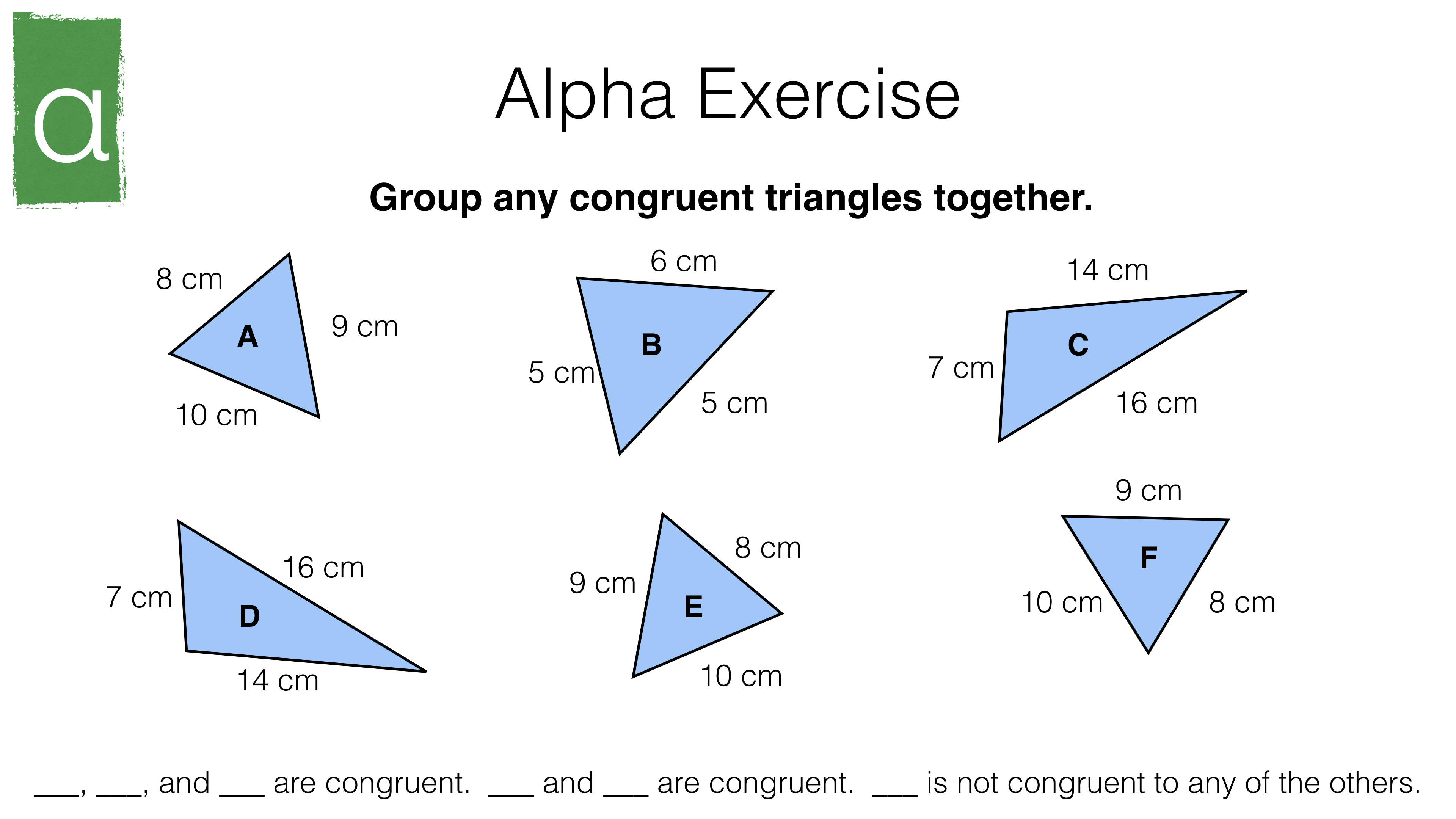 G5a Congruence Criteria For Triangles Sss Sas Asa