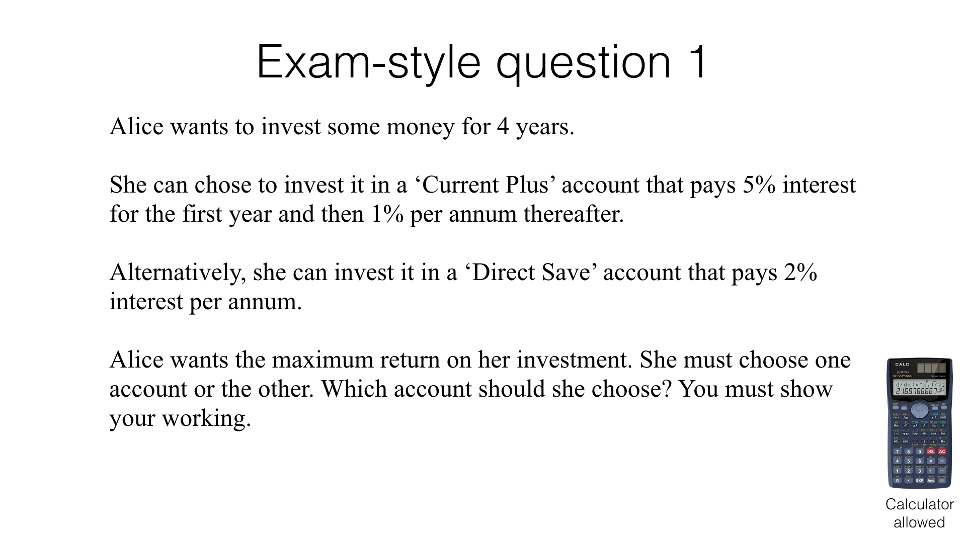 R16a Growth And Decay Problems Bossmaths