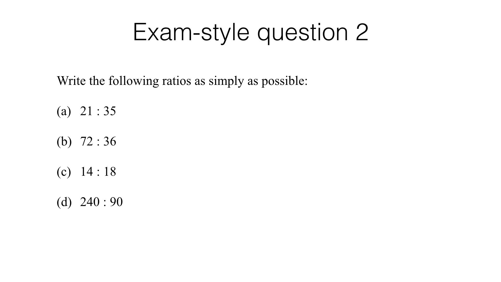 Ratios Simplest Form Worksheet