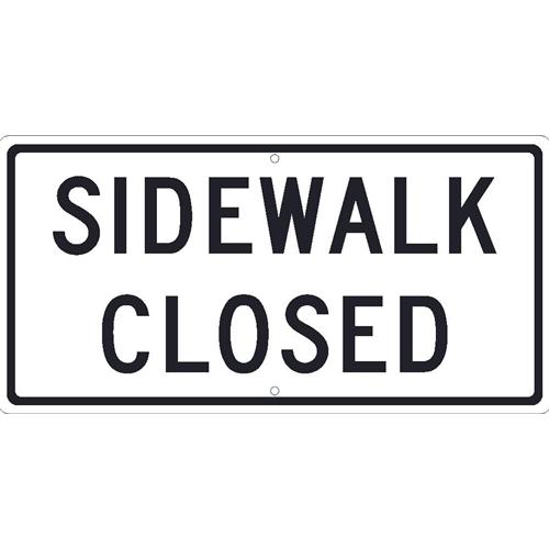 Sidewalk Closed Sign (TM516J)