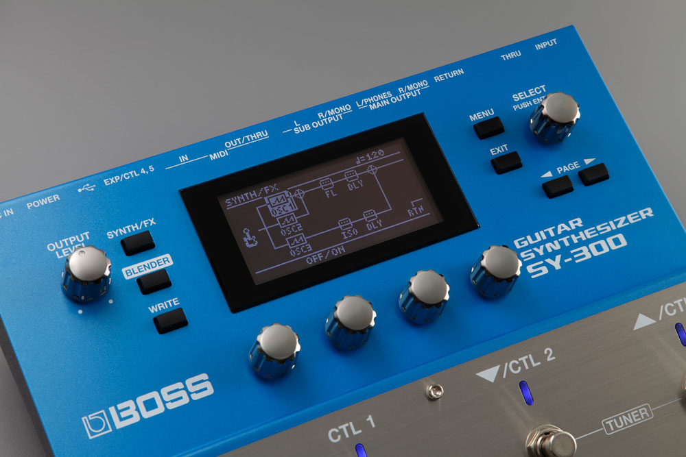 BOSS SY-300 Guitar Synthesizer Display