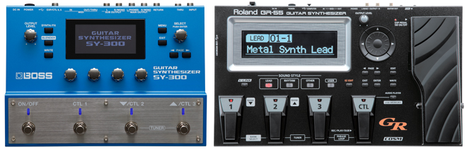 BOSS SY-300 and Roland GR-55 Guitar Synthesizers