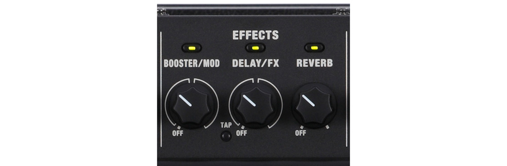 The effects on a Katana amp are very easy to select and adjust.