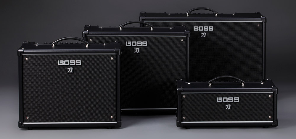 The BOSS Katana guitar amplifier lineup.