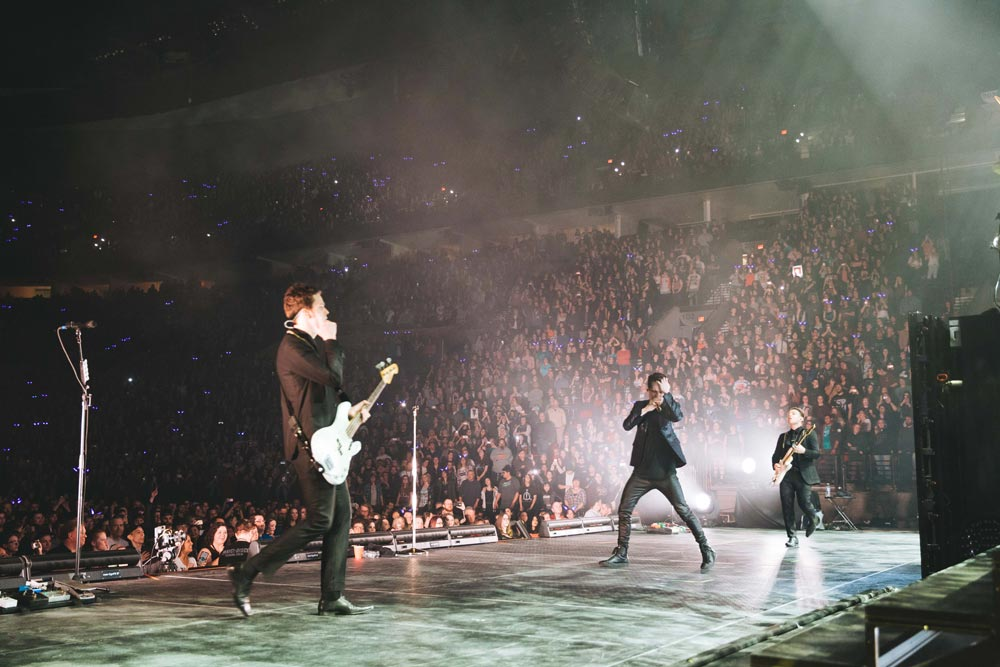 Panic! at the Disco performing on stage.