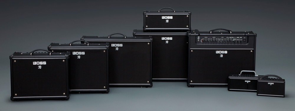 The 2018 Katana amplifier lineup.