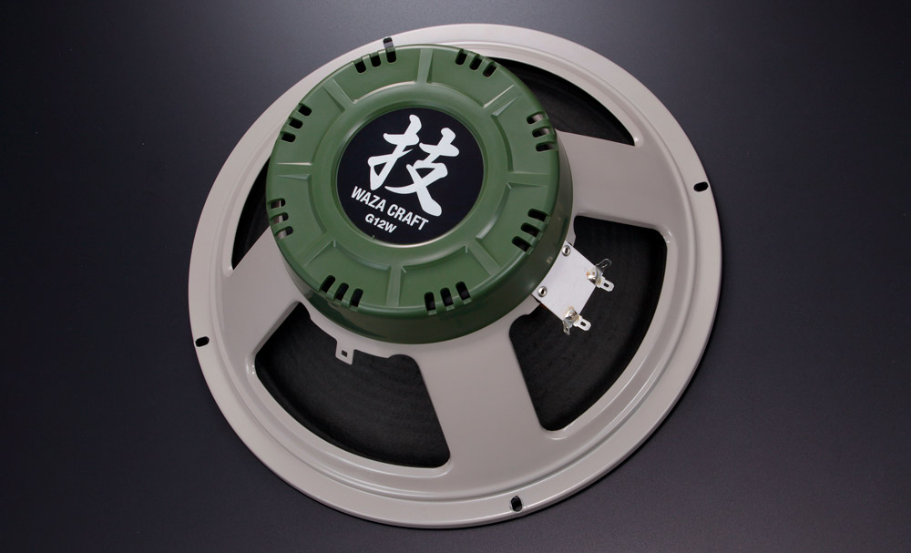 The 12-inch Waza Craft G12W realizes classic 25-watt speaker tone with greatly increased power handling.