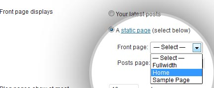 static front page