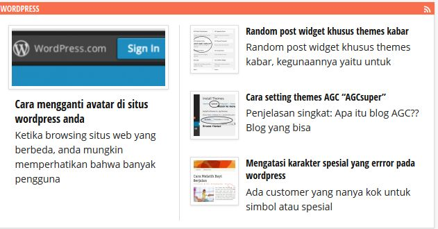 wordpress post thumnail