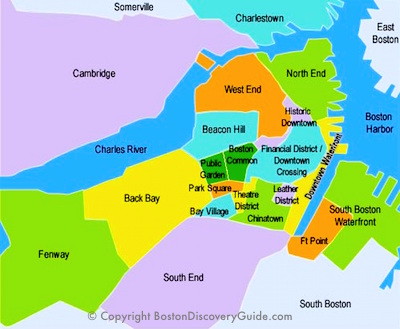 Best Boston Map for Visitors Free Sightseeing Map