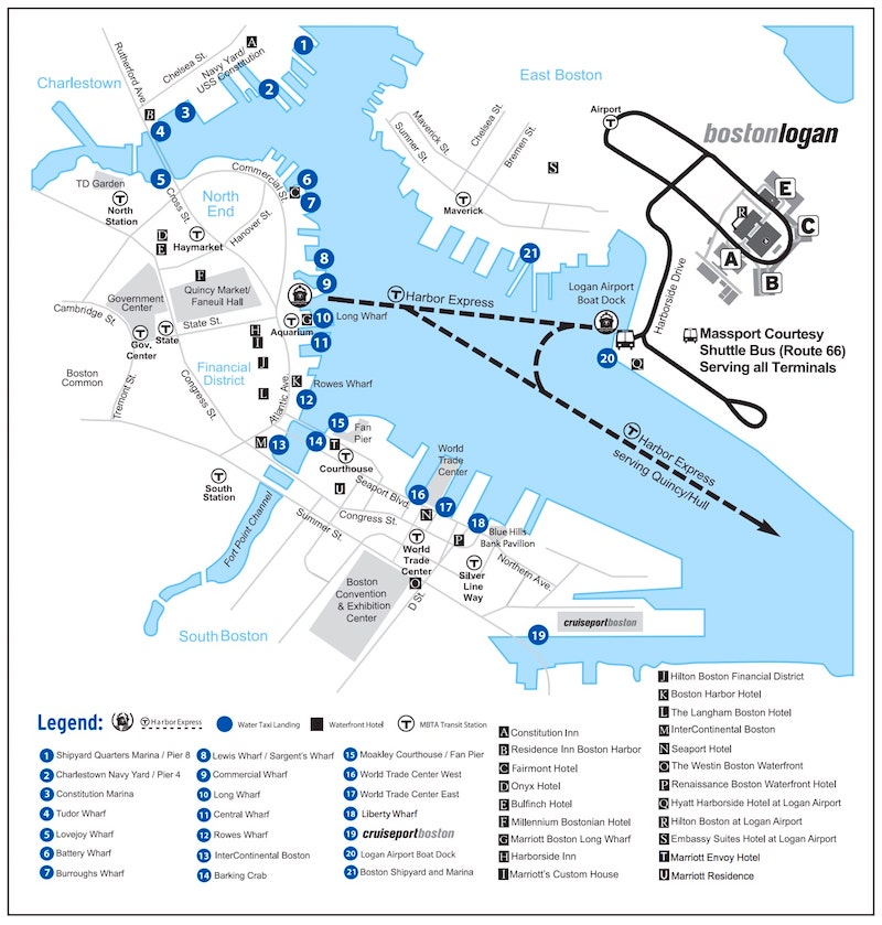 cruise ship diagram 2004 kia optima v6 wiring water taxis from logan airport - boston discovery guide